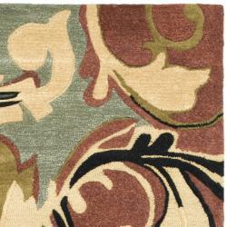 Safavieh Handmade Soho Rust/ Multi New Zealand Wool Rug (5' x 8') - Thumbnail 1