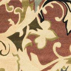 Safavieh Handmade Soho Rust/ Multi New Zealand Wool Rug (5' x 8') - Thumbnail 2