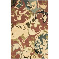 Safavieh Handmade Soho Rust/ Multi New Zealand Wool Rug - 5' x 8' - Thumbnail 0