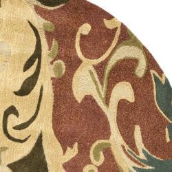 Safavieh Handmade Soho Rust/ Multi New Zealand Wool Rug (6' Round)