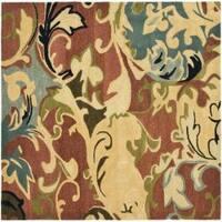 Safavieh Handmade Soho Rust/ Multi New Zealand Wool Rug (6' Square) - 6'