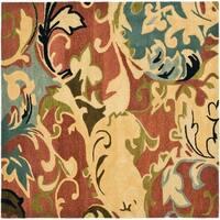 Safavieh Handmade Soho Rust/ Multi New Zealand Wool Rug - 6' x 6' Square