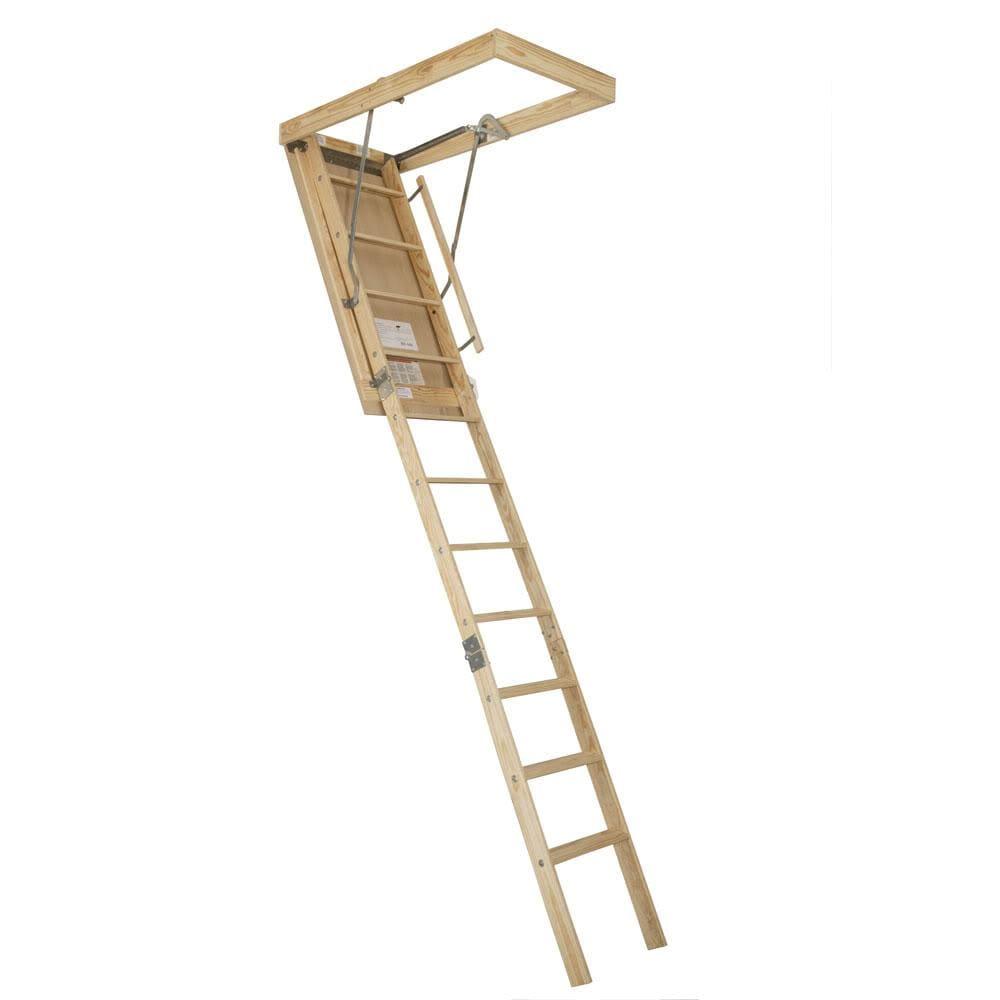 Wood 25-inch x 8.75-foot Attic Stairway