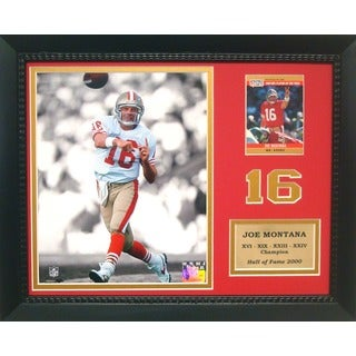 Hall of Fame Joe Montana #16 Trading Cards Deluxe Frame
