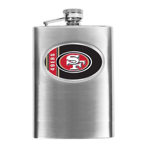 NFL San Francisco 49ers 8-oz Stainless Steel Hip Flask