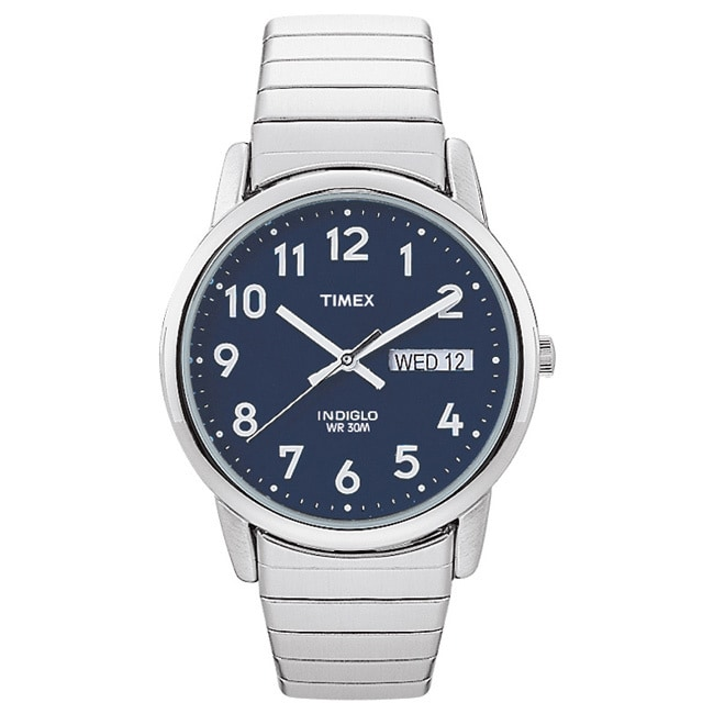 Timex T20031 Mens Classic Indiglo Stainless Steel Classic...