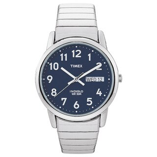 Timex Mens Classic Indiglo Stainless Steel Classic Indiglo Stainless Steel Watch
