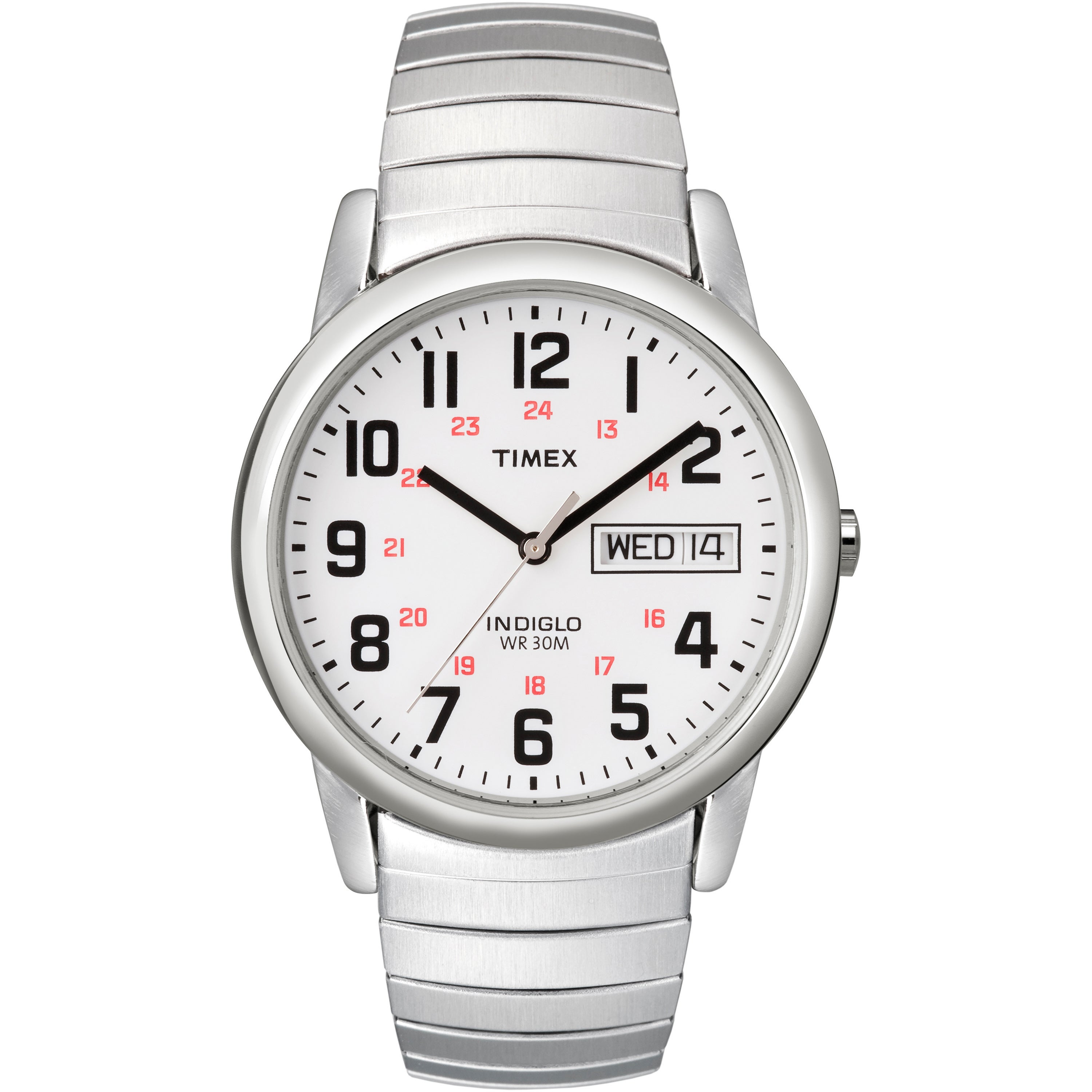 Timex T20461 Mens Classic Indiglo Stainless Steel Classic...