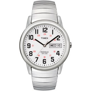 Timex T20461 Mens Classic Indiglo Stainless Steel Classic Indiglo Stainless Steel Watch