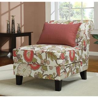 Coral Floral Slipper Chair