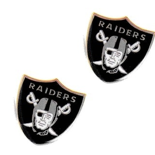 Oakland Raiders Stud Logo Earrings