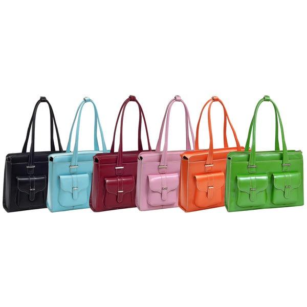 McKlein Women's Alexis Leather 15.4-inch Laptop Briefcase