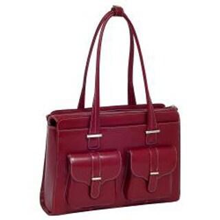McKlein Women's Alexis Leather 15.4-inch Laptop Briefcase (Option: Red)