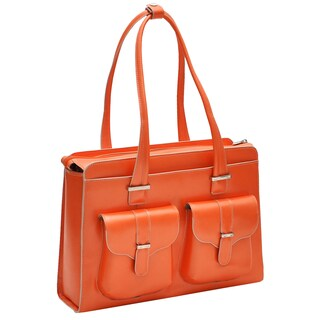 McKlein Women's Alexis Leather 15.4-inch Laptop Briefcase (Option: Orange)