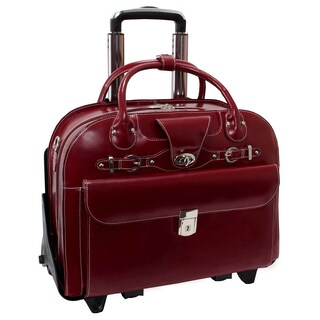 McKlein Roseville Checkpoint-friendly 15.4-inch Rolling Laptop Briefcase