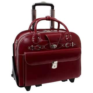 Mcklein Roseville Checkpoint Friendly 15 4 Inch Rolling Laptop Briefcase