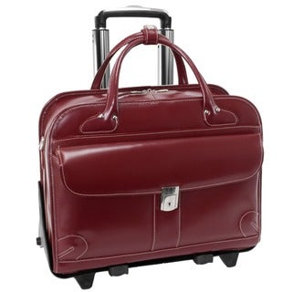McKlein Lakewood Checkpoint-friendly 15.4-inch Rolling Laptop Briefcase
