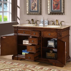 silkroad exclusive 55 inch double sink cabinet bathroom vanity free shipping today overstock. Black Bedroom Furniture Sets. Home Design Ideas