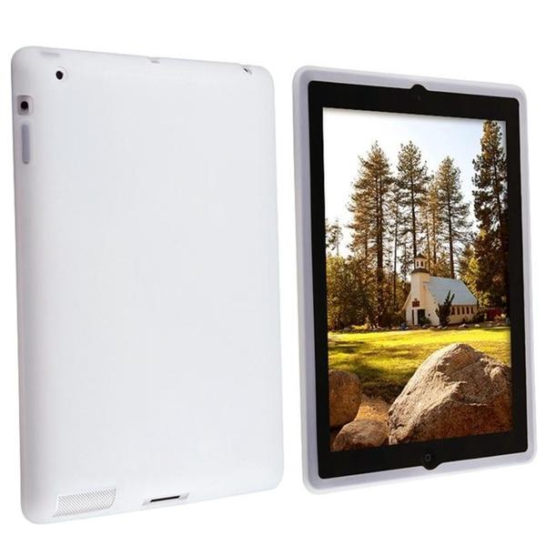 Clear White Silicone Case for Apple iPad 2