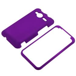 Snap-on Dark Purple Rubber Coated Case for HTC EVO Shift 4G - Thumbnail 1