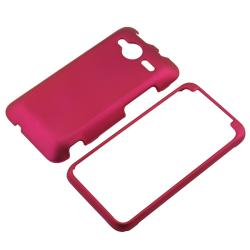 INSTEN Snap-on Hot Pink Rubber Coated Phone Case Cover for HTC EVO Shift 4G