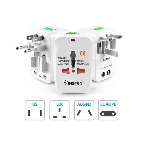 Insten Universal Worldwide World Wide Travel Charger Travel Adapter International Plug