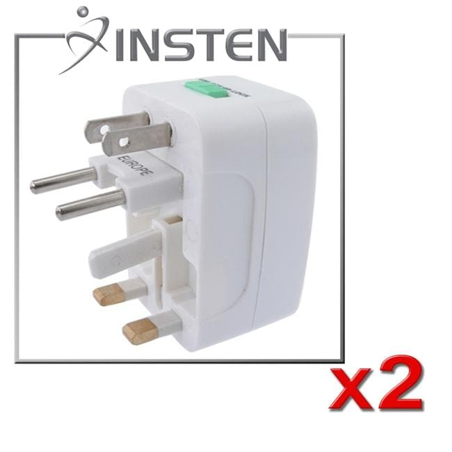 INSTEN Worldwide Travel Charger Adapter Plug (Pack of 2)