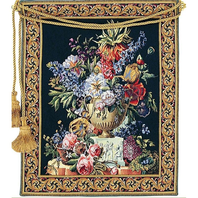 Fiori european floral tapestry wall hanging free for Wall hanging