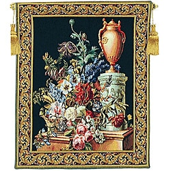 Fleurs Jardin Traditional European Tapestry Wall Hanging