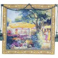 Flower Market European Tapestry Wall Hanging