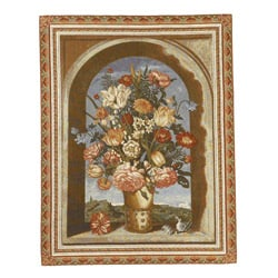 Flora by the Sea European Tapestry Wall Hanging - Thumbnail 1