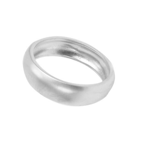 NEXTE Jewelry Silvertone Frosted Satin Finish Wedding-style Band