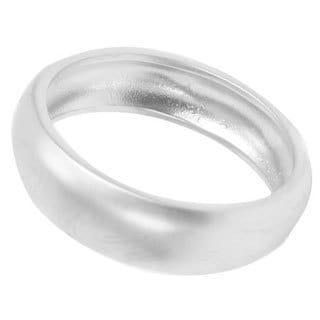 NEXTE Jewelry Silvertone Frosted Satin Finish Wedding-style Band (Option: 4)