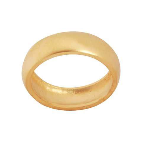 NEXTE Jewelry 14k Gold Overlay Frosted Satin Finish Wedding-style Band