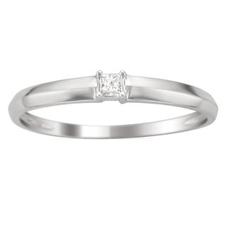 Montebello 10k White Gold Diamond Accent Promise Ring