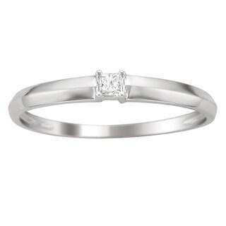 Montebello 10k White Gold Diamond Accent Promise Ring