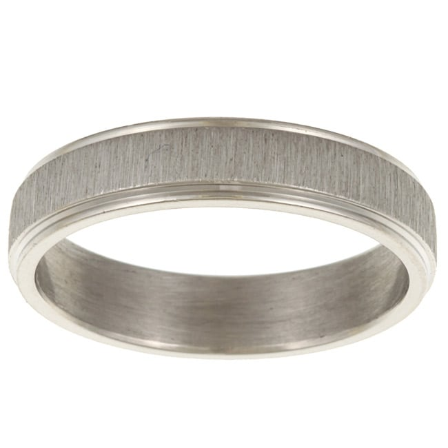 Stainless Steel Sandblasted Center Band
