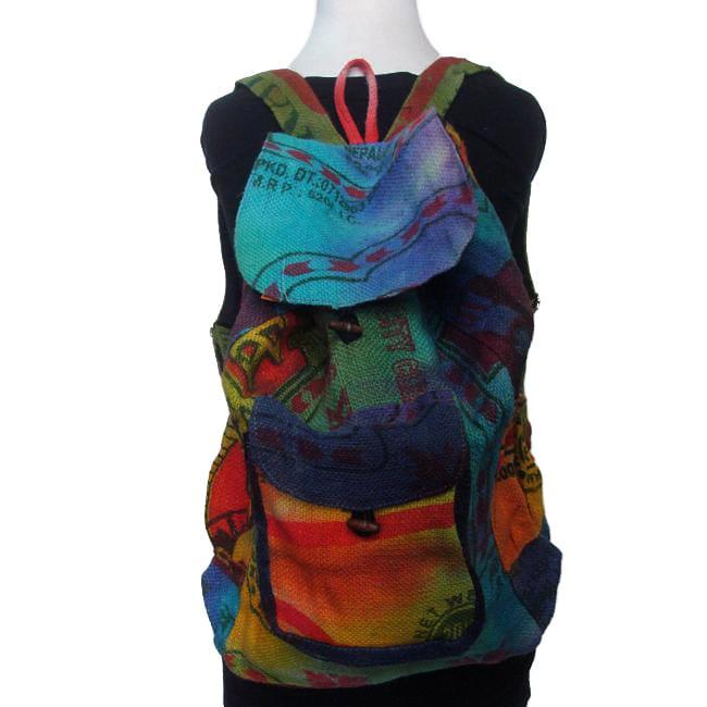 Jute Tie Dye Backpack (Nepal)