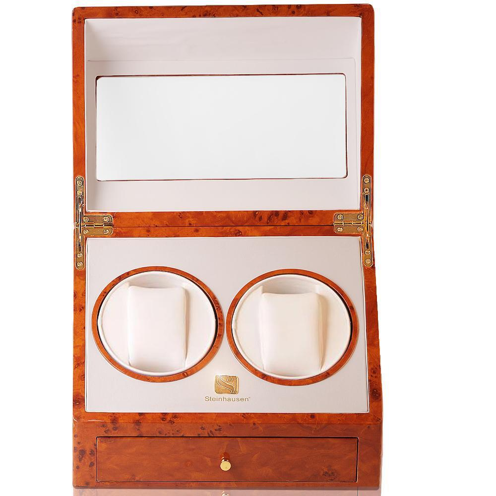 Steinhausen executive collection burlwood quad watch winder youtube.