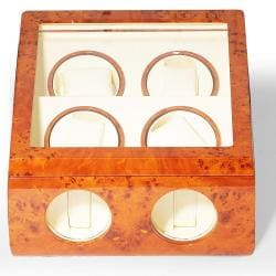 Steinhausen Executive Collection Burlwood Quad Watch Winder - Thumbnail 1