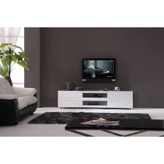 Firenze White Two-drawer Modern TV Stand