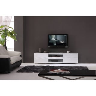 Link to Firenze White Two-drawer Modern TV Stand Similar Items in Entertainment Units