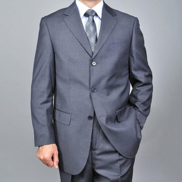 Men's Charcoal Grey 3-button Suit