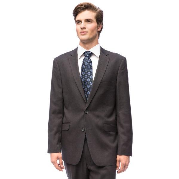Men's Charcoal Grey 2-button Slim-fit Suit