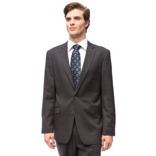 Men's Charcoal Grey 2-button Slim-fit Suit