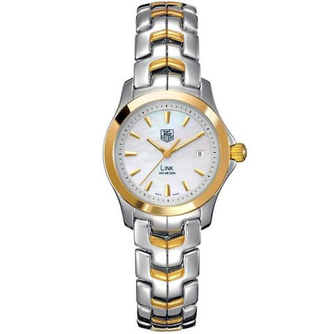 Tag Heuer Women's WJF1352.BB0581 'Link' 18kt Yellow Gold Two-Tone Stainless Steel and Gold Watch