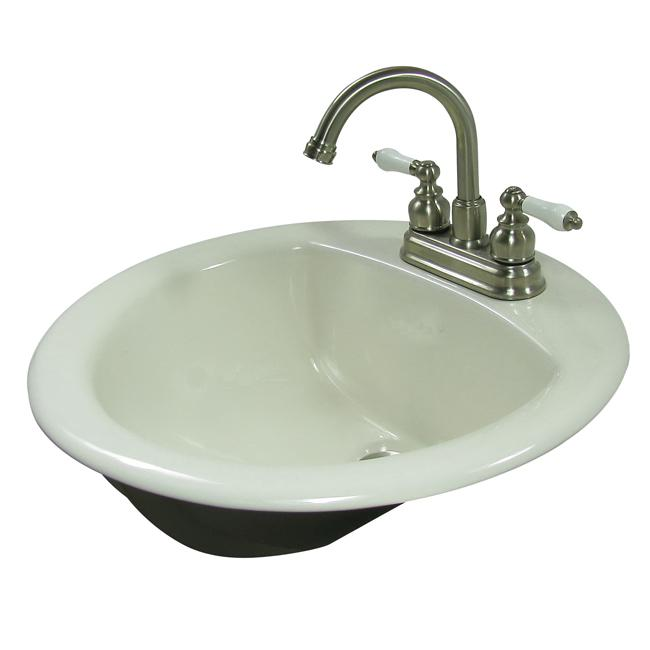 Mansfield Sinks Pedestal : Mansfield Porcelain Biscuit Drop-in Round Sink - Free Shipping On ...