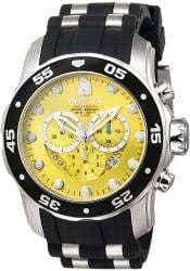 Invicta Men's Pro Diver Chronograph Black Polyurethane Watch - Thumbnail 1