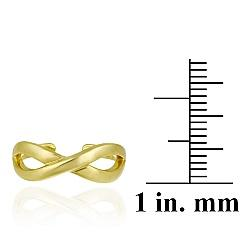 Mondevio 18k Gold over Sterling Silver Infinity Toe Ring