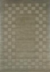 Hand-tufted Trendy Green Wool Rug (5' x 8') - Thumbnail 1